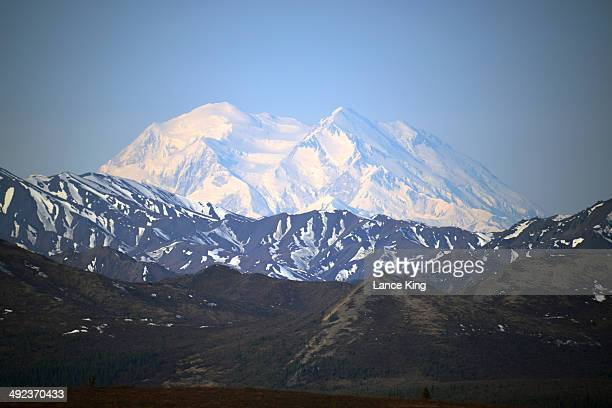 A general view of Mt McKinley on May 14 2014 in Denali National Park Alaska According to the National Park service the summit elevation of Mt...
