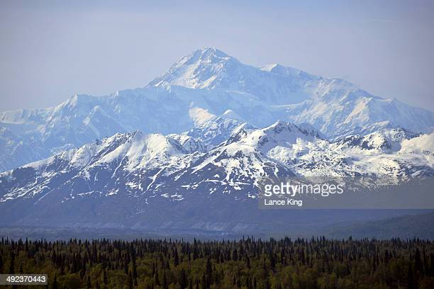 A general view of Mt McKinley on May 15 2014 in Denali National Park Alaska According to the National Park service the summit elevation of Mt...