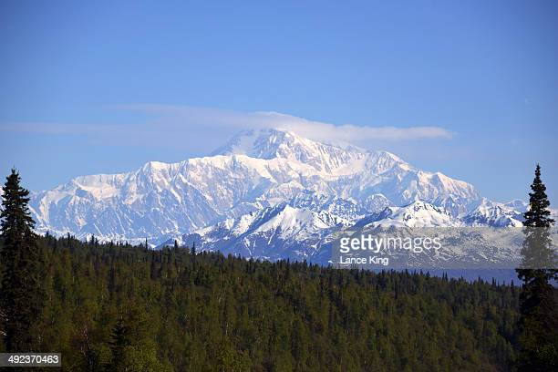 A general view of Mt McKinley on May 17 2014 in Denali National Park Alaska According to the National Park service the summit elevation of Mt...