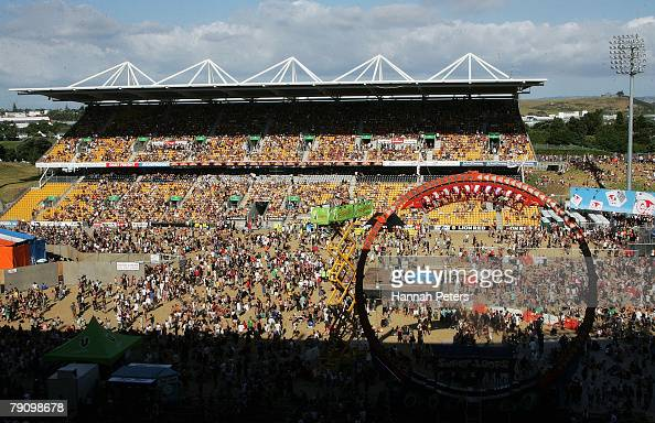 A general view of Mt Smart Stadium during the Big Day Out on January 18 2008 in Auckland New Zealand