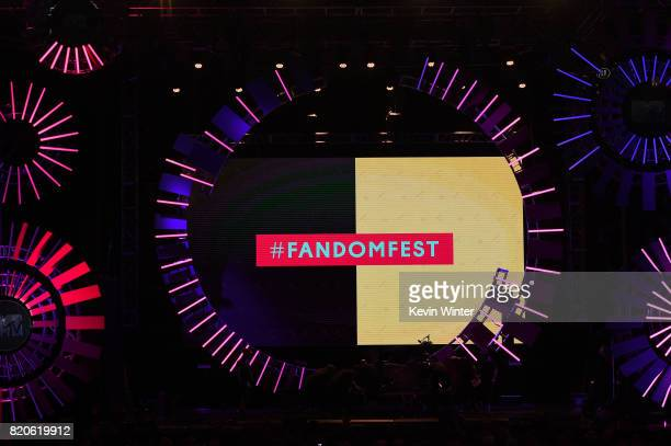 General view of MTV Fandom Fest at PETCO Park on July 21 2017 in San Diego California
