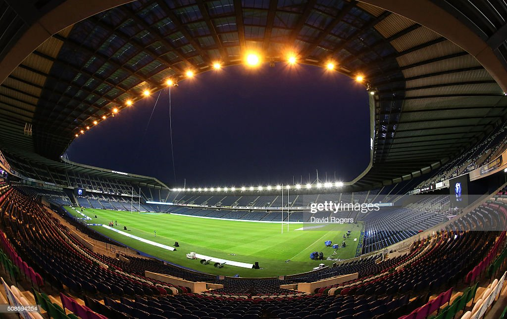 A general view of Murrayfield Stadium on February 5, 2016 in Edinburgh, Scotland.