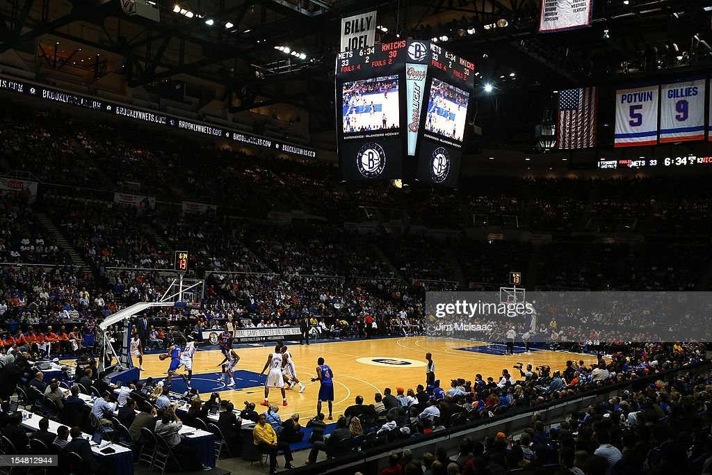 A general view of Nassau Coliseum as the Brooklyn Nets play against the New York Knicks in a preseason game on October 24 2012 in Uniondale, New York The Knicks defeated the Nets 97-95.