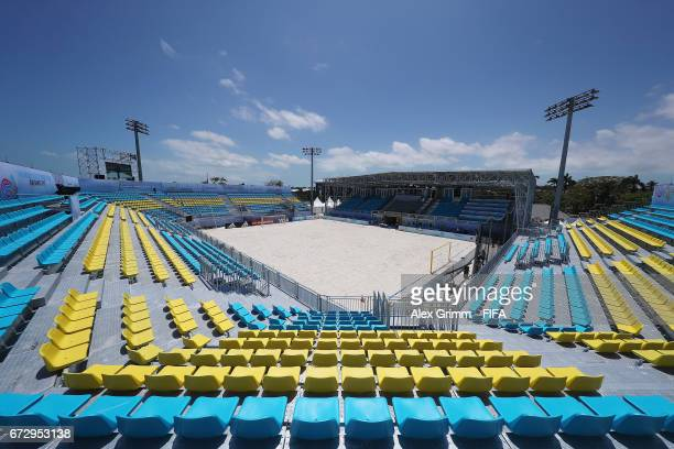 A general view of National Beach Soccer Arena before the FIFA Beach Soccer World Cup Bahamas 2017 on April 25 2017 in Nassau Bahamas