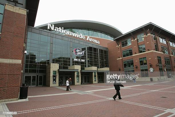 A general view of Nationwide Arena home of the upcoming June 2007 NHL Draft prior to the NHL game between the San Jose Sharks and the Columbus Blue...