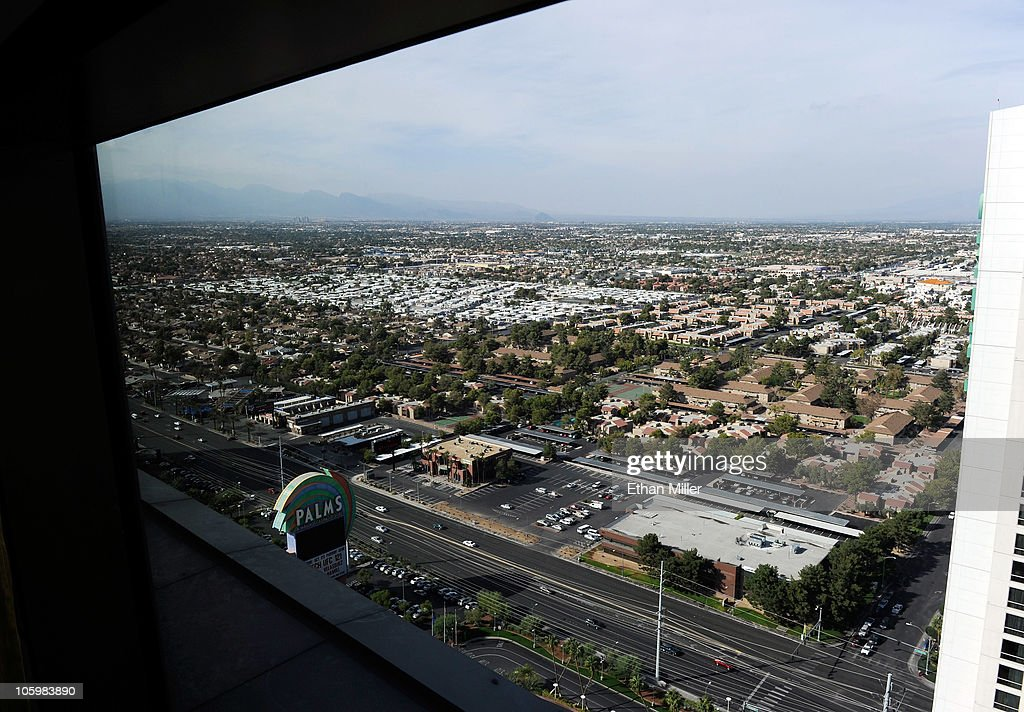 A general view of neighborhoods seen from the Palms Casino Resort October 23, 2010 in Las Vegas, Nevada. Nevada once had among the lowest unemployment rates in the United States at 3.8 percent but has since fallen on difficult times. Las Vegas, the gaming capital of America, has been especially hard hit with unemployment currently at 14.7 percent and the highest foreclosure rate in the nation. Among the sparkling hotels and casinos downtown are dozens of dormant construction projects and hotels offering rock-bottom rates. As the rest of the country slowly begins to see some economic progress, Las Vegas is still in the midst of the economic downturn.