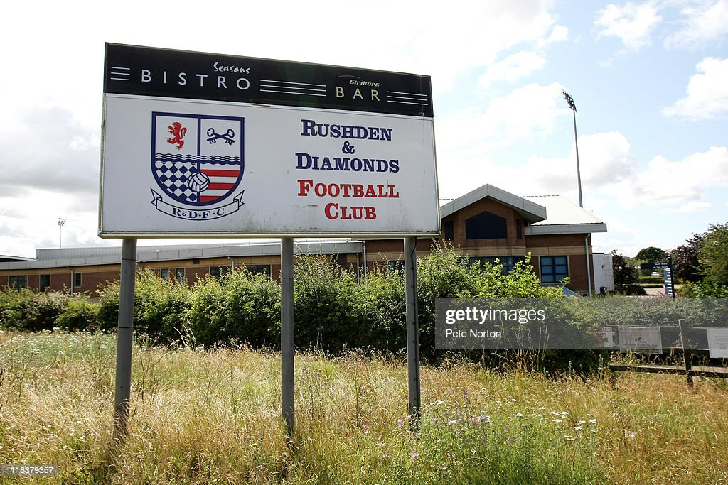 A general view of Nene Park, the home of Rushden & Diamonds FC, taken on July 6, 2011 in Irthlingborough, England. Rushden & Diamonds went into administration on Wednesday July 6 having been demoted from the Blue Sqaure Bet Premier League due to their unstable financial position.