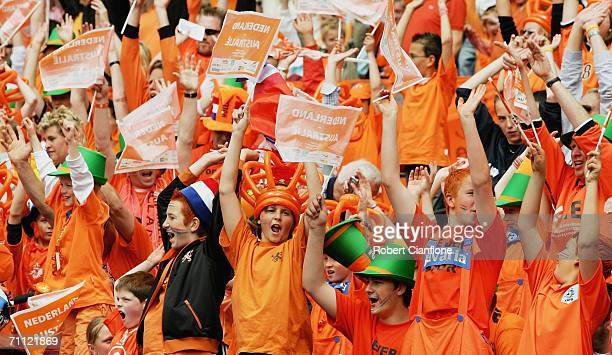 A general view of Netherlands fans prior to the international friendly match between Netherlands and Australia at De Kuip Stadium June 4 2006 in...