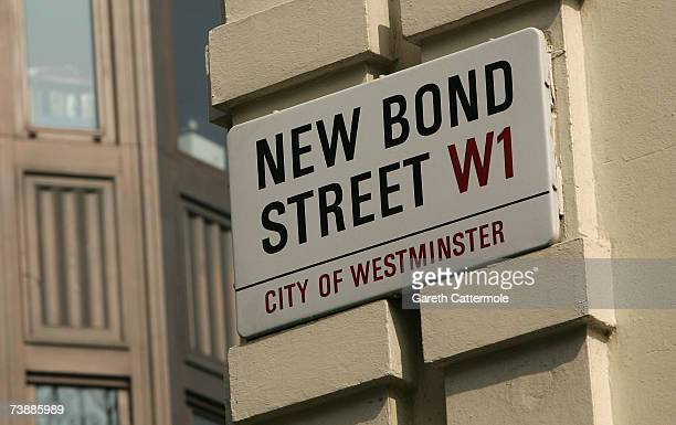 A general view of New Bond Street in London on April 14 2007 in London