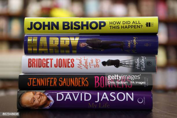 A general view of new books 'How did all this happen' by John Bishop 'Always Managing My Autobiography' by Harry Redknapp 'Bridget Jones Mad about...