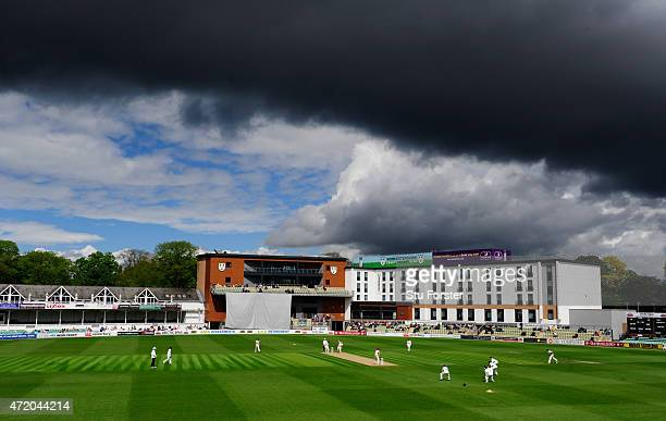 A general view of New Road during day one of the Division One LV County Championship match between Worcestershire and Somerset at New Road on May 3...