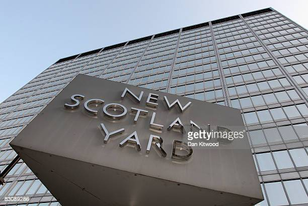A general view of New Scotland Yard on October 2 2008 in London England Metropolitan Police Commissioner Sir Ian Blair today announced his...