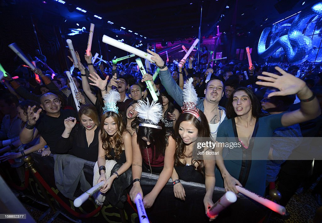 A general view of New Year's Eve at the Surrender Nightclub at Encore Las Vegas on December 31, 2012 in Las Vegas, Nevada.