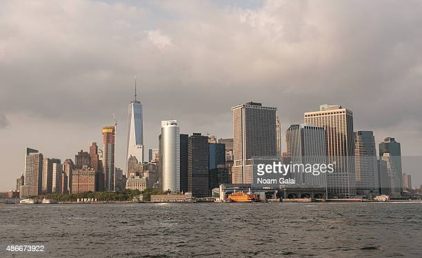 General view of New York City as seen from HOT 97s 'On Da Reggae Soca Tip 2015' concert at Governors Island on September 4 2015 in New York City
