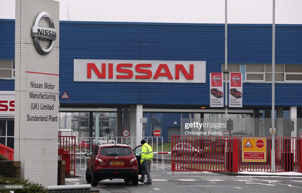 A general view of Nissan's Sunderland production plant on January 24, 2013 in Sunderland, England. The Japanese manufacturer's factory employs 6,225 people producing the Juke, Note and Qashqai models. In 2012 the Wearside facility built 510,572 cars to become the first ever UK automobile plant to have produced more than half a million cars in a year, which was 34.8 percent of the cars produced in the whole of the UK for 2012.