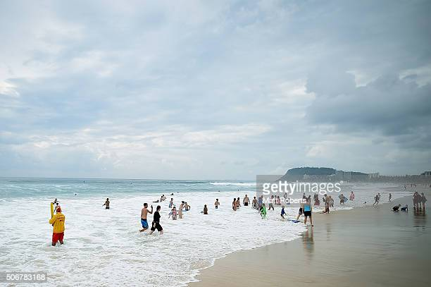 General view of North Burleigh beach on January 26 2016 on the Gold Coast Australia Australia Day formerly known as Foundation Day is the official...