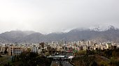 A general view of northern Tehran taken from Tabi'at bridge on Modares highway during Noruz holidays on March 25 2015 During the Noruz holiday the...