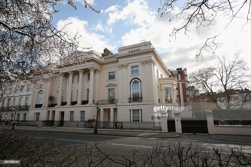 A general view of number one Cornwall Terrace, opposite Regent's Park, which recently sold for 80 million GBP on March 12, 2013 in London, England. The grade 1 listed end-of-terrace house, which was the former home of the New Zealand High Commissioner, covers 21,500 square feet and has been bought by British property developer Marcus Cooper. It was designed and build in 1821-3 by renowned architect Decimus Burton, it has eleven reception rooms, seven bedrooms and a leisure complex with gymnasium and swimming pool.
