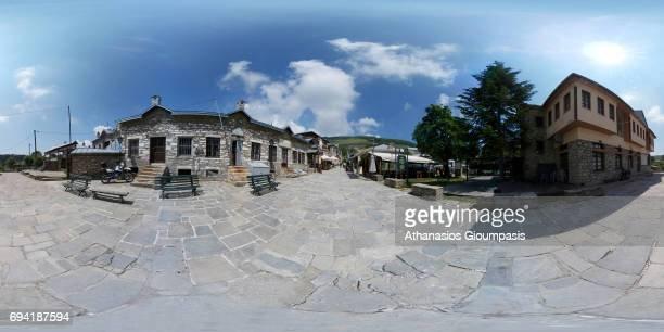 General view of Nymfaio village on June 05 2017 in Nymfaio GreeceNymfaio is a traditional settlement of Mount Vernon at an altitude of 1350 m in a...