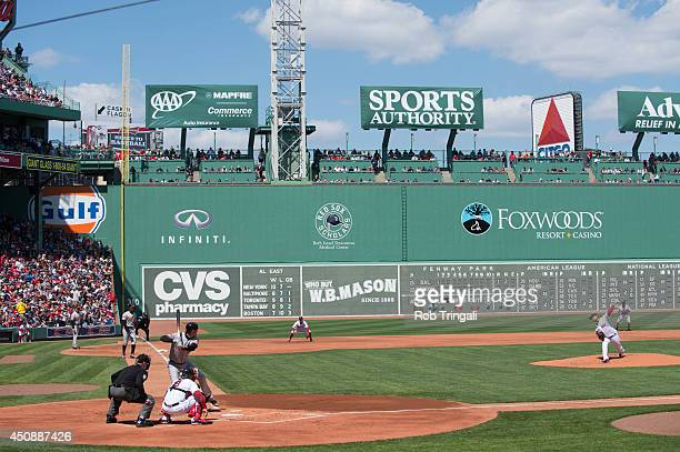 A general view of of Fenway Park during a game between the Boston Red Sox and the Baltimore Orioles ion Saturday April 19 2014 in Boston Massachusetts