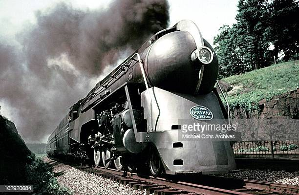 A general view of of New York Central System's 20th Century Limited designed by Henry Dreyfuss circa 1938