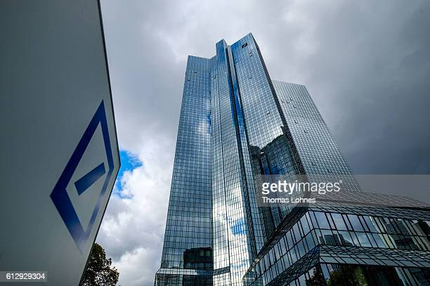 A general view of of the corporate headquarters of Deutsche Bank on October 5 2016 in Frankfurt Germany Banks across Europe are struggling as their...