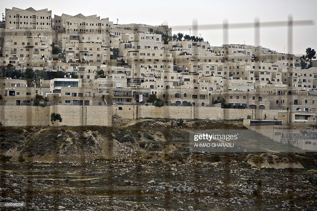 A general view of of the Ramat Shlomo a Jewish settlement in the mainly Palestinian eastern sector of Jerusalem on June 5 2014 Israeli plans to build...