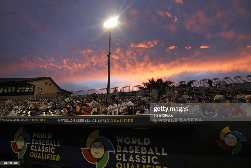 A general view of of the skyline above Roger Dean Stadium during game 6 of the Qualifying Round of the World Baseball Classic at Roger Dean Stadium between Team Israel and Team Spain on September 23, 2012 in Jupiter, Florida.