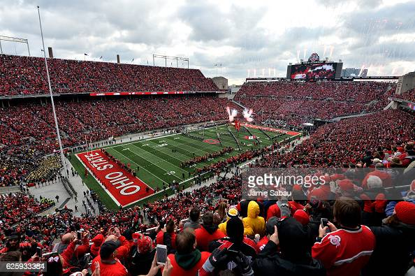 A general view of Ohio Stadium prior to the game between the Michigan Wolverines and Ohio State Buckeyes on November 26 2016 in Columbus Ohio