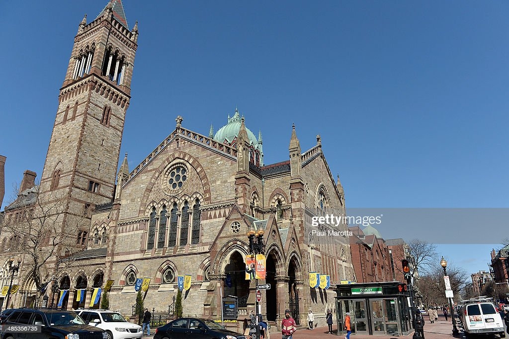 A general view of Old South Church on Boylston Street in Copley Square on April 17, 2014 in Boston.