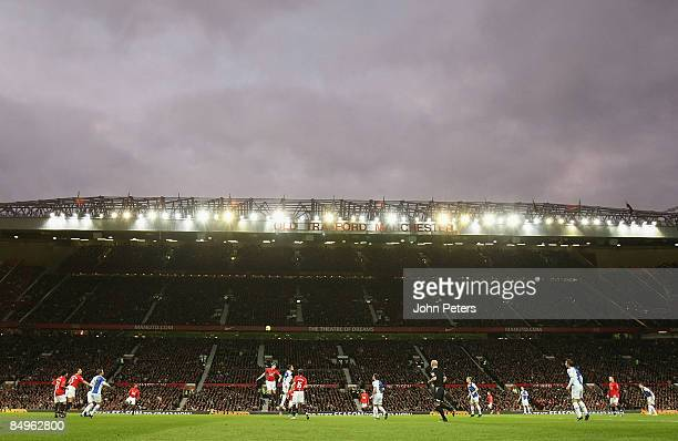 A general view of Old Trafford during the Barclays Premier League match between Manchester United and Blackburn Rovers at Old Trafford on February 21...