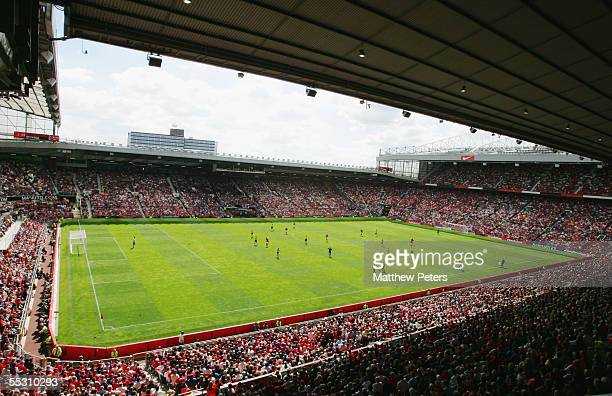 A general view of Old Trafford during the Barclays Premiership match between Manchester United and Aston Villa at Old Trafford on August 20 2005 in...