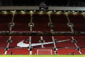 General view of Old Trafford during the FA Barclaycard Premiership match between Manchester United and Birmingham City held on December 28 2002 at...