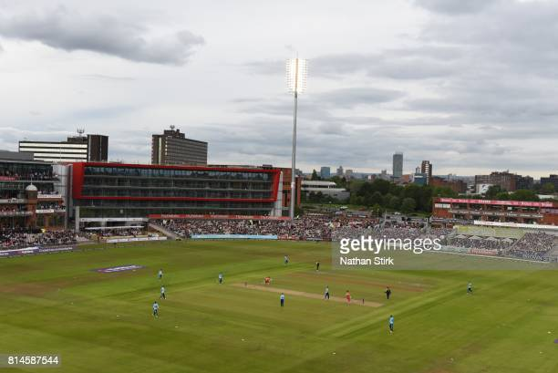 General view of Old Trafford during the NatWest T20 Blast match against Lancashire Lightning and Yorkshire Vikings at Old Trafford on July 14 2017 in...