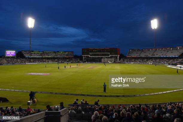 General view of Old Trafford during the NatWest T20 Blast match between Lancashire Lightning and Worcestershire Rapids at Old Trafford on August 16...