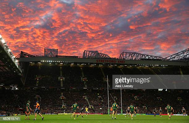 A general view of Old Trafford is seen during the Rugby League World Cup Final between New Zealand and Australia at Old Trafford on November 30 2013...