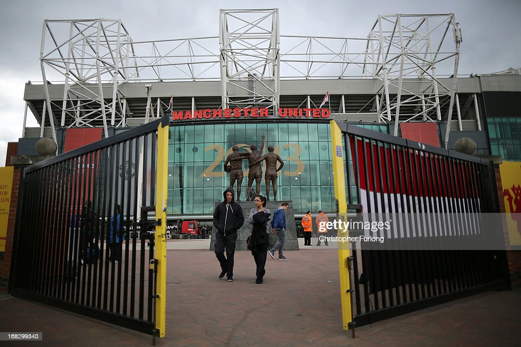 A general view of Old Trafford on the day Sir Alex Ferguson announced his retirement as club manager on May 8, 2013 in Manchester, England. Sir Alex Ferguson announced today that he is retiring as manager of Manchester United after 26 years.