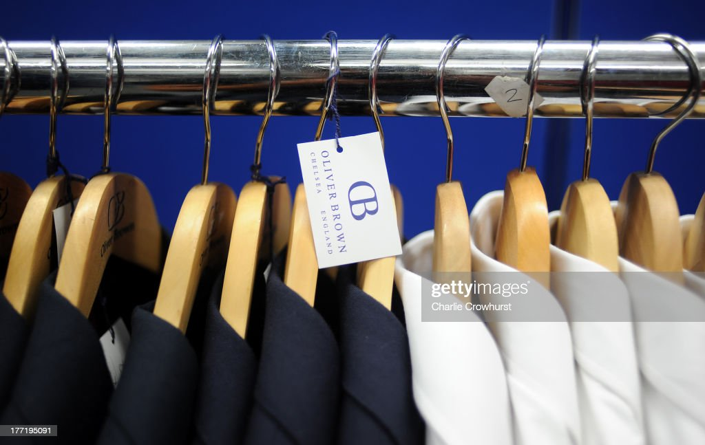 General View of Oliver Brown clothing as it was announced that Oliver Brown are to be the Official Supplier of Formalwear to Team GB's delegation participating in the Sochi 2014 Olympic Winter Games on August 9, 2013 in Bath, England.