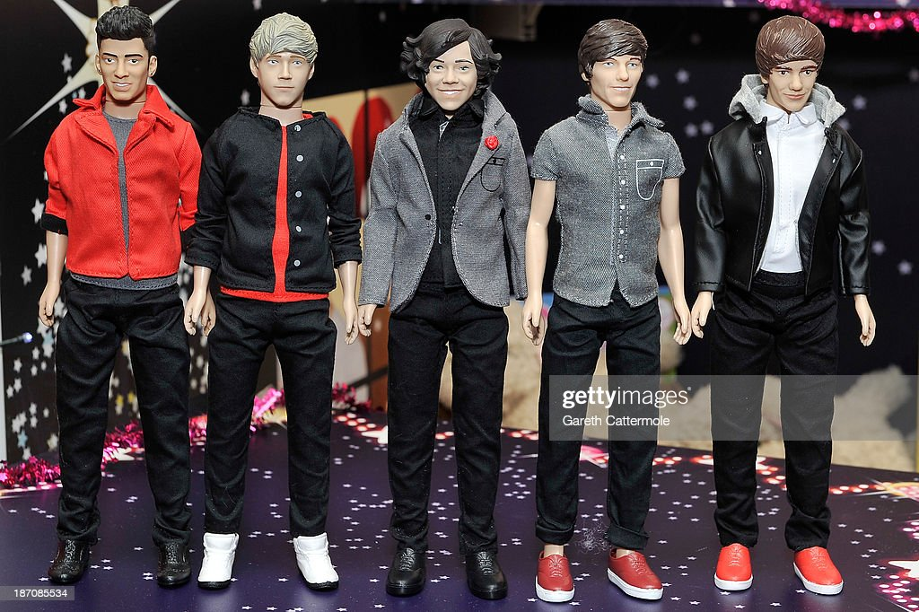 A general view of One Direction dolls at the Dream Toys 2013 press day at St Mary's on November 6, 2013 in London, England.