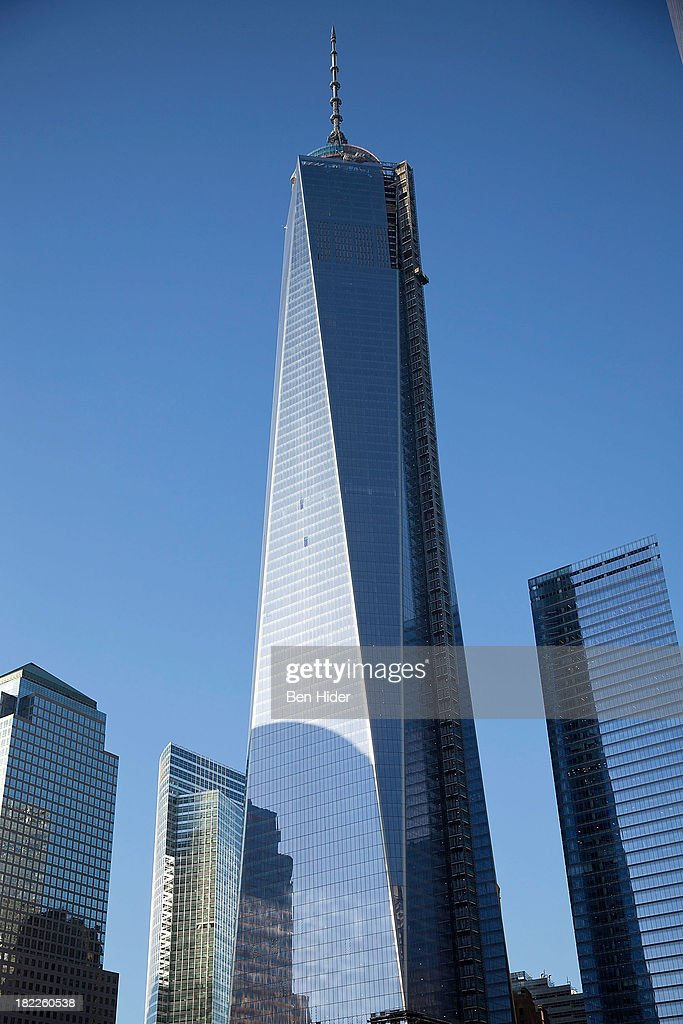 A general view of One World Trade Center, The Freedom Tower on September 18, 2013 in New York City.