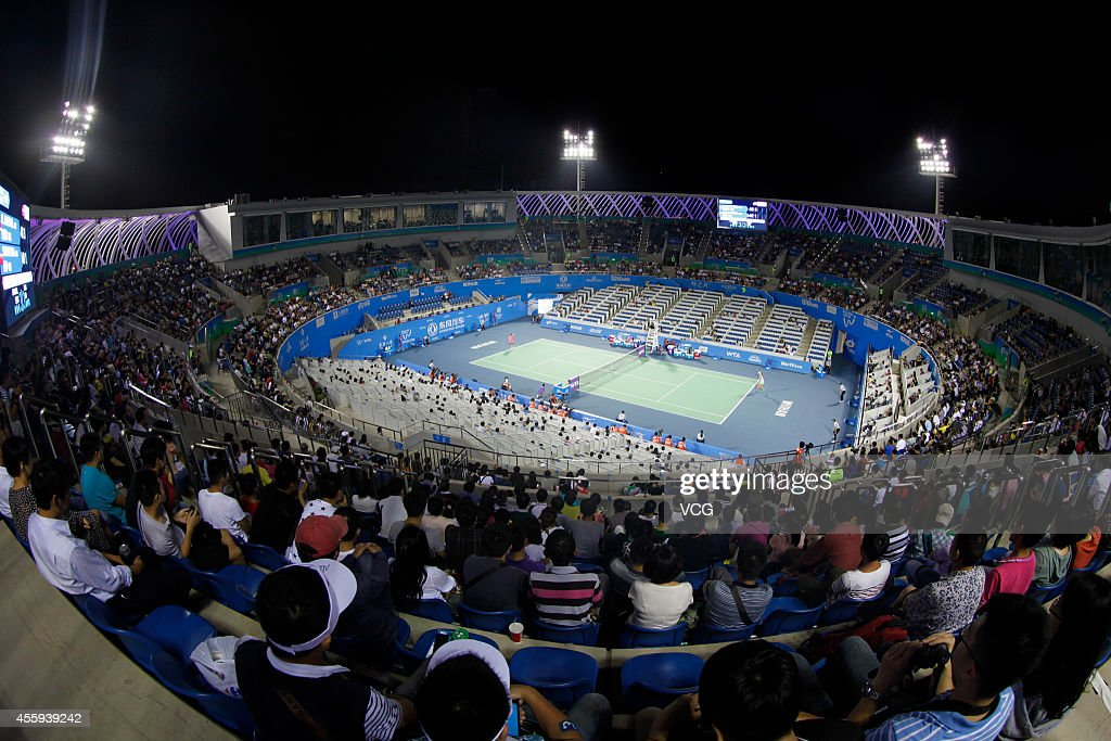 A general view of Optics Valley International Tennis Center during day two of the 2014 Dongfeng Motor Wuhan Open at Optics Valley International...