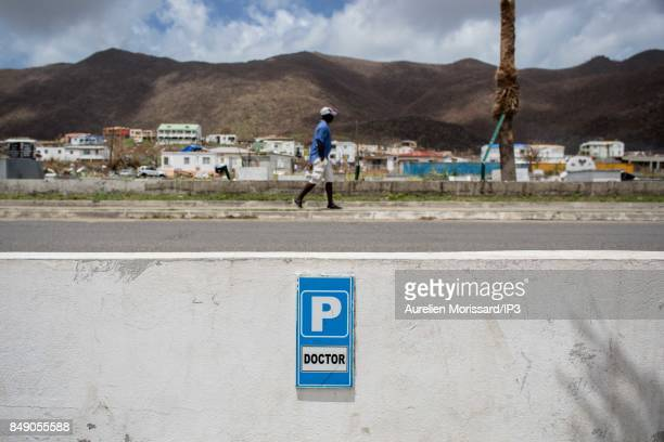 A general view of Orleans neighborhood ten days after the passage of hurricane Irma on September 15 2017 in Saint Martin French Antilles France...
