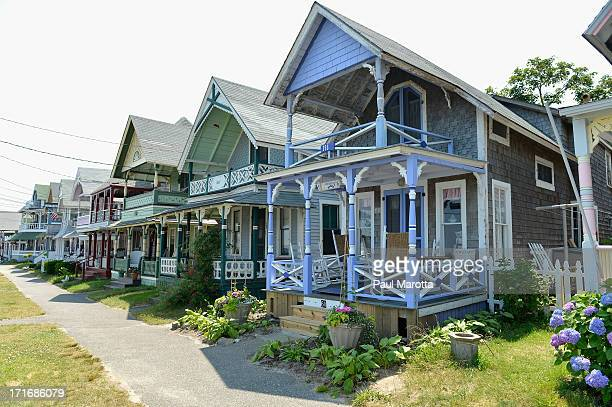 A general view of ornate vacation homes in Oak Bluffs on June 26 2013 on Martha's Vineyard