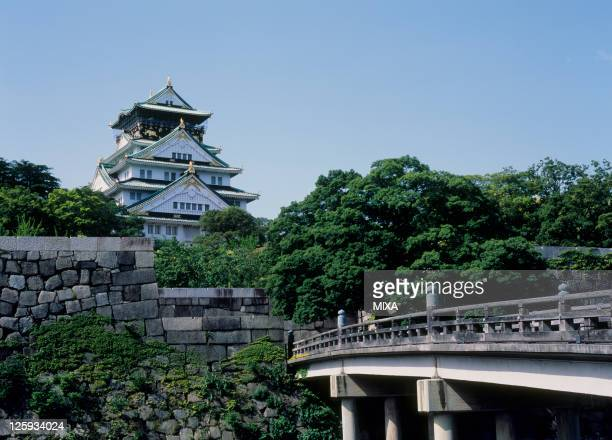 A general view of Osaka Castle on May 1 2007 in Osaka Japan