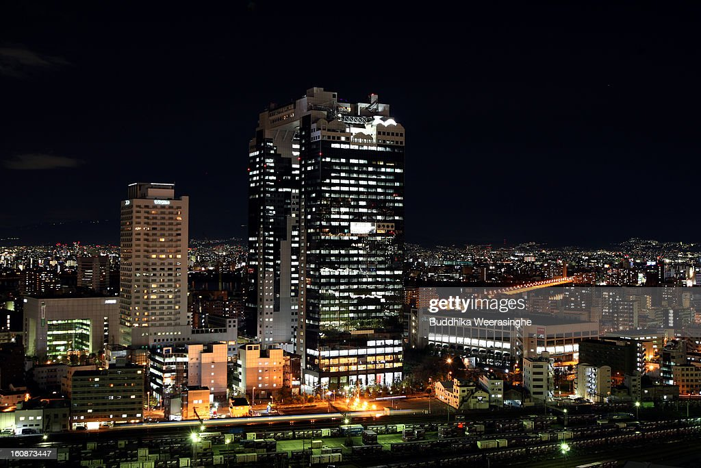 General view of Osaka on February 6, 2013 in Osaka, Japan. A recent servey shows Tokyo as the most expensive city in the world and Osaka ranked second.