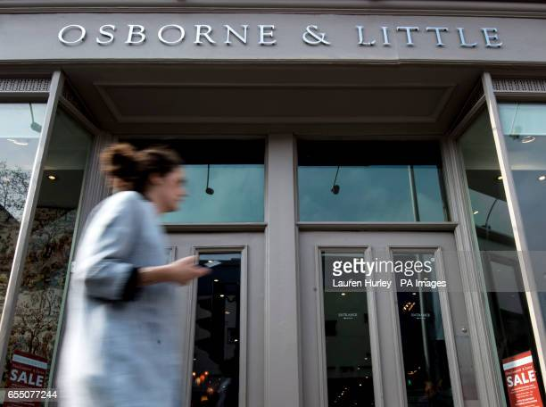 General view of Osborne amp Little on King's Road Chelsea London George Osborne's upmarket family wallpaper firm is to enjoy a business rates cut of...