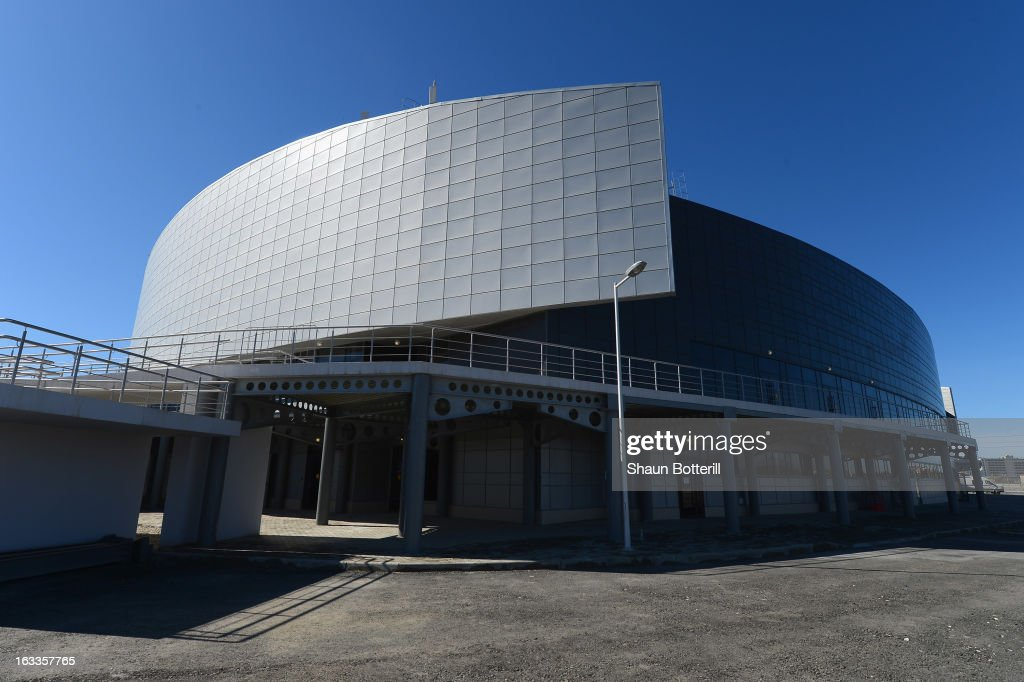 A general view of outside before the World Junior Curling Championships at Ice Cube Curling Center on March 8, 2013 in Sochi, Russia.