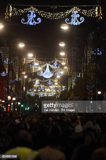 General view of Oxford Street's Christmas Lights in central London