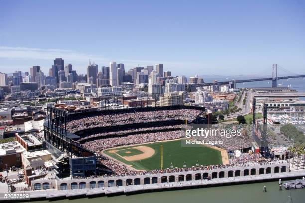 A general view of Pacific Bell Park home of the San Francisco Giants taken on May 18 2002 in San Francisco California