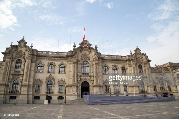 General view of Palacio de Gobierno prior the official visit of President of Ecuador Lenin Moreno on May 09 2017 in Lima Peru